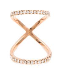 Carbon & Hyde - Metallic 'Olympia' Mid-Finger Diamond Ring - Lyst