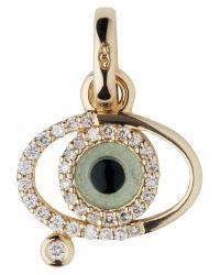 Links of London - Metallic Evil Eye Charm 18ct Yellow Gold - Lyst