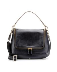 Anya Hindmarch | Black Maxi Zip Leather Shoulder Bag | Lyst