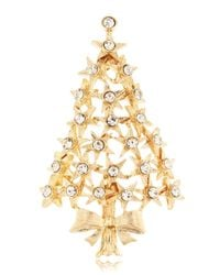 R.j. Graziano | Metallic Star Tree Brooch | Lyst