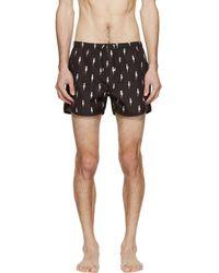 Neil Barrett - Black Nylon Thunderbolt Swim Shorts for Men - Lyst