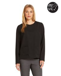 424 Fifth | Black Long Sleeved Blouse | Lyst