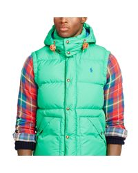 Polo Ralph Lauren | Green Elmwood Down Vest for Men | Lyst
