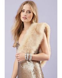 Forever 21 - Natural Faux Fur Stole - Lyst