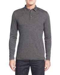 Robert Barakett | Gray Bryce Long-Sleeved Pima Cotton-Blend Polo Shirt for Men | Lyst