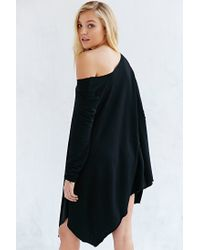 Project Social T - Black Off-the-shoulder Tunic Top - Lyst