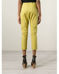 Erika Cavallini Semi Couture | Natural Cropped Trousers | Lyst