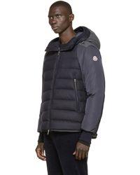 Moncler - Blue Navy Quilted Down Augert Ii Coat for Men - Lyst
