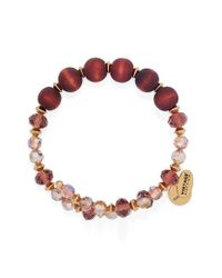 ALEX AND ANI | Red 'enigma' Wrap Bracelet - Rich Wine | Lyst