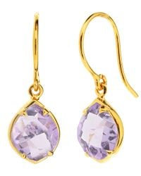 Dinny Hall | Purple Gold Vermeil Amethyst Sheba Kite Drop Earrings | Lyst