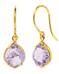 Dinny Hall - Purple Gold Vermeil Amethyst Sheba Kite Drop Earrings - Lyst
