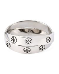 Tory Burch | Metallic Set Of 2 Logo Bracelet | Lyst