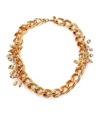 Tory Burch - Metallic Idelle Flower Necklace - Lyst