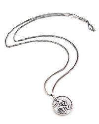 Pixie Market   Metallic Silver Zodiac Necklace   Lyst