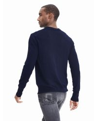 Banana Republic | Blue Extra-fine Merino Wool Henley Sweater Pullover for Men | Lyst