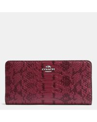 COACH | Multicolor Skinny Wallet In Colorblock Exotic Embossed Leather | Lyst