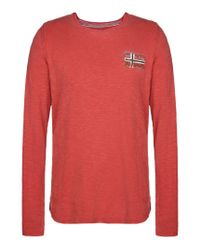 Napapijri | Red Long Sleeve T-shirt for Men | Lyst