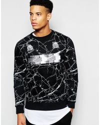 Pink Dolphin | Black Sweatshirt With Back Print for Men | Lyst
