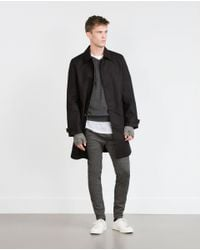 Zara | Gray Merino Wool Sweater for Men | Lyst