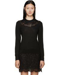 Dolce & Gabbana - Black Lace Knit Sweater - Lyst