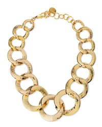 Nest | Metallic Hammered Gold-plated Chain Link Necklace | Lyst