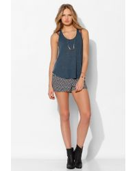 06ce0974be Project Social T Deep Scoop Tank Top in Blue - Lyst
