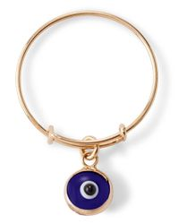 ALEX AND ANI | Metallic Precious Metals Evil Eye Expandable Wire Ring | Lyst