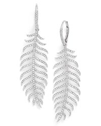 Nadri | Metallic Pave Drop Earrings | Lyst