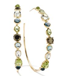 Ippolita - Multicolor 18k Rock Candy Gelato Multistone Hoop Earrings - Lyst