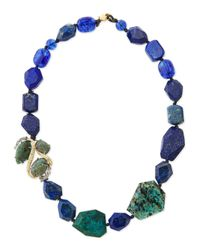 Alexis Bittar - Singlestrand Blue Beaded Necklace - Lyst