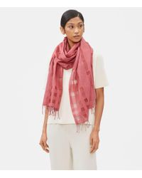 Eileen Fisher - Red Handloomed Organic Cotton Silk Scarf - Lyst