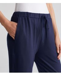 Eileen Fisher - Blue Terry Slouchy Ankle Pant - Lyst