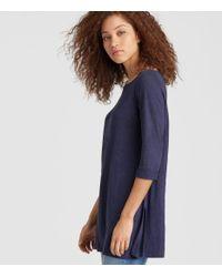 Eileen Fisher - Blue Exclusive Organic Linen Jersey Tunic - Lyst