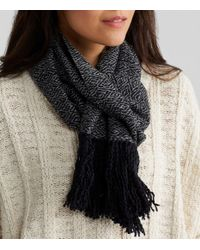 Eileen Fisher - Black Handwoven Peruvian Organic Cotton Scarf - Lyst