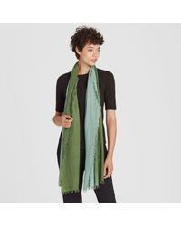 Eileen Fisher - Green Silk Cashmere Ombre Scarf - Lyst
