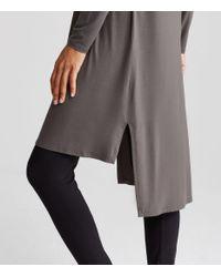 Eileen Fisher | Gray Merino Interlock Sweater Dress | Lyst