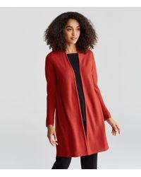 Eileen Fisher - Red Organic Cotton Silk Long Cardigan - Lyst