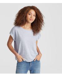 Eileen Fisher - Blue Exclusive Organic Linen Jersey Box-top - Lyst