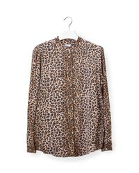 Equipment | Multicolor Slim Signature Long-sleeve Snake-print Silk Shirt | Lyst