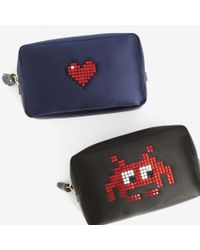Anya Hindmarch - Black Heart Make-up Pouch - Lyst