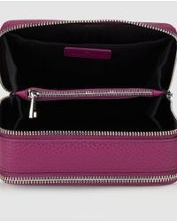 Gloria Ortiz - Christmas Charm Purple Leather Mini Crossbody Bag With A Detachable Strap - Lyst