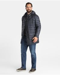 Tommy Hilfiger | Big And Tall Blue Quilted Parka for Men | Lyst