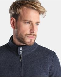 Mirto - Blue Jacket With Zip for Men - Lyst