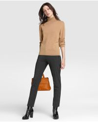 James Perse | Brown Camel Sweater With A Polo Neck | Lyst
