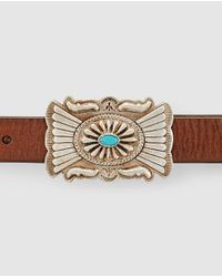 Polo Ralph Lauren - Brown Leather Belt With A Metal Buckle - Lyst