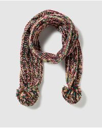 Jo & Mr. Joe - Multicolor Multicoloured Knitted Scarf With Pompoms - Lyst