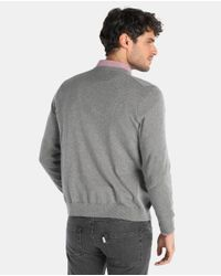 Lacoste - Gray Grey Cardigan With Buttons for Men - Lyst