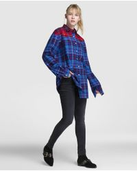 Tommy Hilfiger - Blue Long Check Print Shirt - Lyst