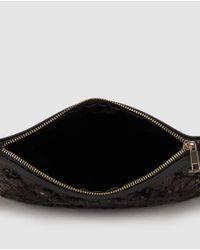 Zendra El Corte Inglés - Black Clutch With Matching Sequins - Lyst