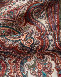 El Corte Inglés Red Paisley Print Silk Handkerchief